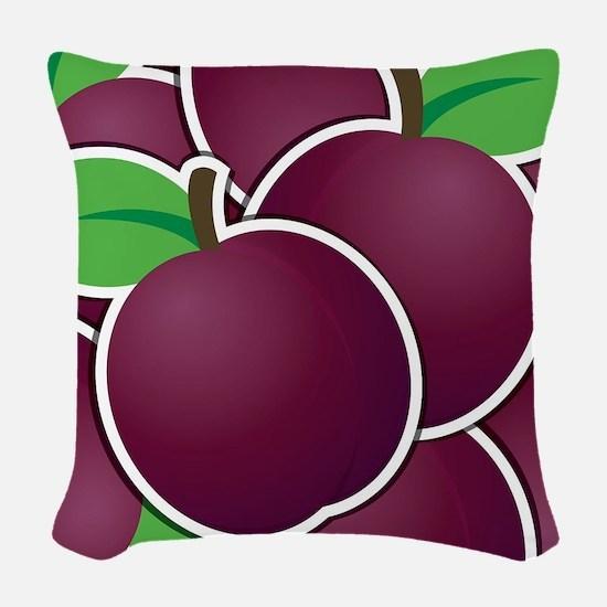 Funky plum Woven Throw Pillow
