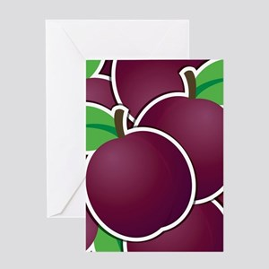 Funky plum Greeting Card