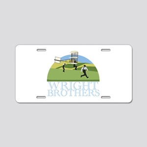 Wright Brothers Aluminum License Plate
