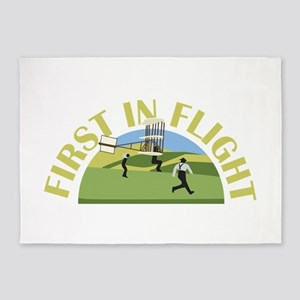 First in Flight 5'x7'Area Rug