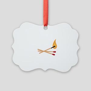 Match Sticks Ornament