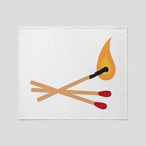 Match Sticks Throw Blanket