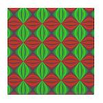 Happy Holidays Fractal Tile Coaster