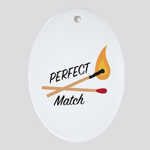 Perfect Match Oval Ornament