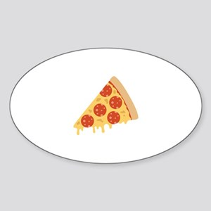 Pepperoni Pizza Sticker (Oval)