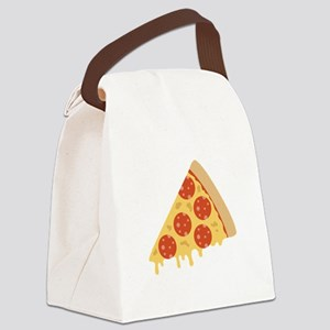 Pepperoni Pizza Canvas Lunch Bag