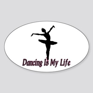 Dancing Life Oval Sticker