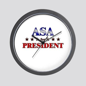 ASA for president Wall Clock