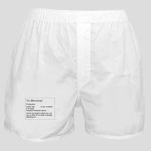 Yo Momma Taunt WoW Boxer Shorts