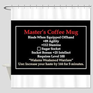 Master's Mug Shower Curtain