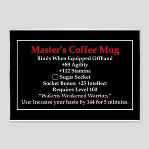 Master's Mug 5'x7'Area Rug