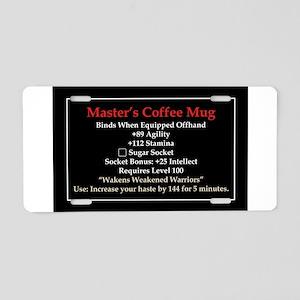 Master's Mug Aluminum License Plate