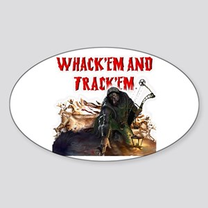 Wackem and trackem Oval Sticker