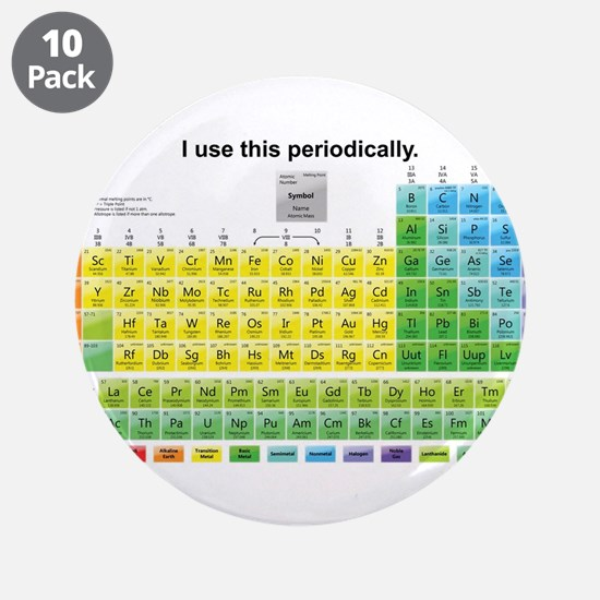 """Periodically 3.5"""" Button (10 pack)"""