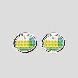 Periodically Oval Cufflinks