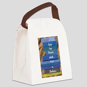I Enjoy Long Romantic Walks Throu Canvas Lunch Bag