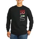 Iraq Stamp Long Sleeve Dark T-Shirt