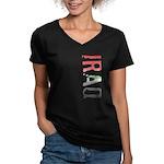 Iraq Stamp Women's V-Neck Dark T-Shirt