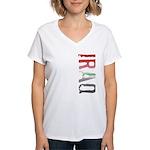 Iraq Stamp Women's V-Neck T-Shirt
