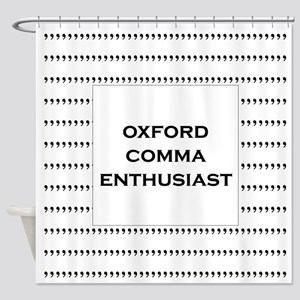 Oxford Comma Enthusiast Shower Curtain