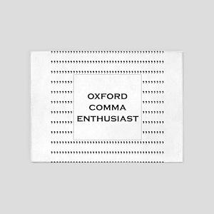 Oxford Comma Enthusiast 5'x7'Area Rug