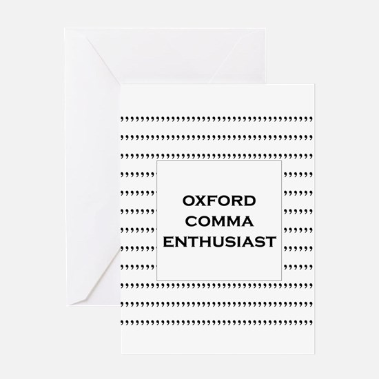 Oxford Comma Enthusiast Greeting Cards