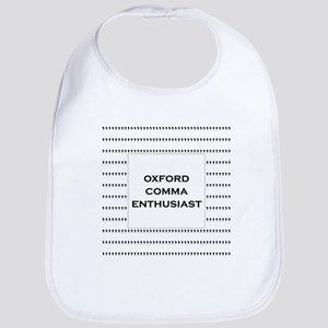 Oxford Comma Enthusiast Bib