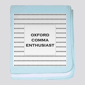 Oxford Comma Enthusiast baby blanket