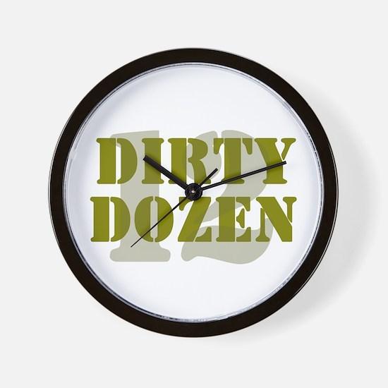 DIRTY DOZEN - 12 Wall Clock