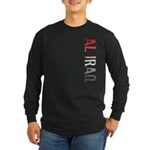 Al Iraq Stamp Long Sleeve Dark T-Shirt