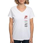 Al Iraq Stamp Women's V-Neck T-Shirt