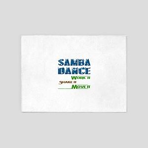 Samba dance, Work it,Share it, Move 5'x7'Area Rug