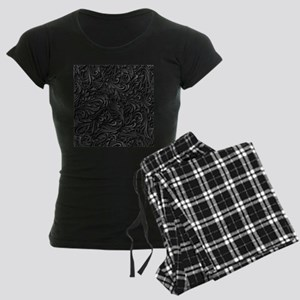 Black Flourish Women's Dark Pajamas