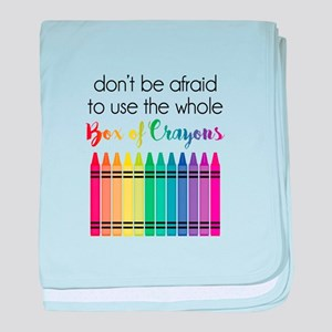 Box Of Crayons baby blanket