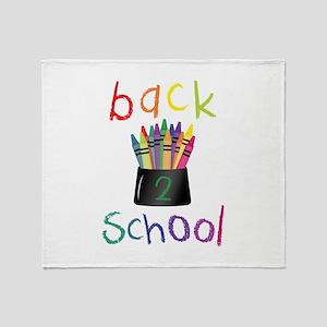 Back 2 School Throw Blanket