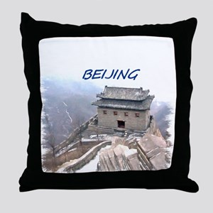 Beijing And The Great Wall Throw Pillow