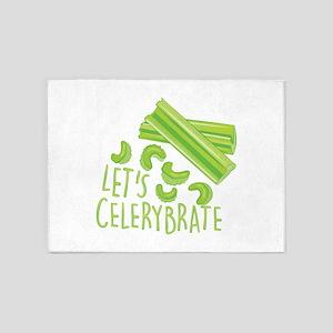 Lets Celerybrate 5'x7'Area Rug