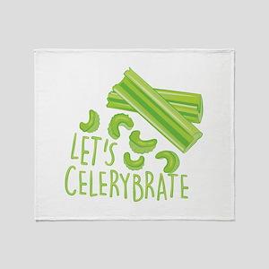 Lets Celerybrate Throw Blanket