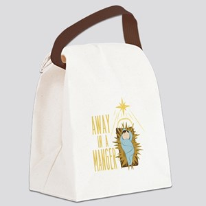 Away In Manger Canvas Lunch Bag