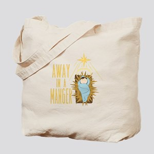 Away In Manger Tote Bag