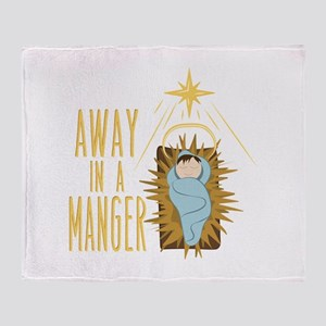 Away In Manger Throw Blanket