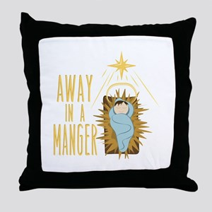 Away In Manger Throw Pillow