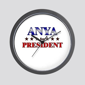 ANYA for president Wall Clock