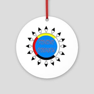 Tohono O'Odham Ornament (Round)