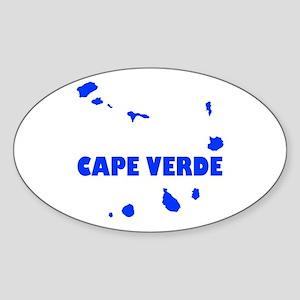 Cape Verde Islands Sticker (Oval)