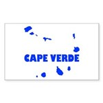 Cape Verde Islands Sticker (Rectangle 50 pk)