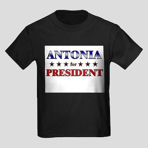 ANTONIA for president Kids Dark T-Shirt