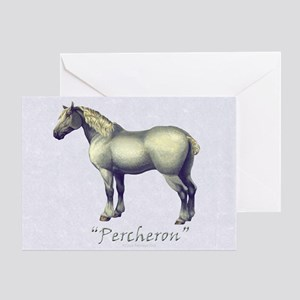 Percheron Horse Gray Greeting Card