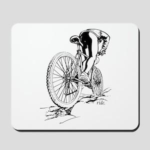 Ride. Mountain Biker Mousepad