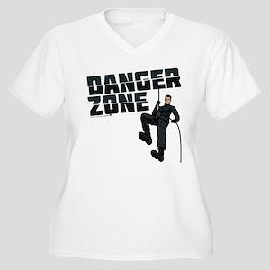 Archer Danger Zon Women's Plus Size V-Neck T-Shirt
